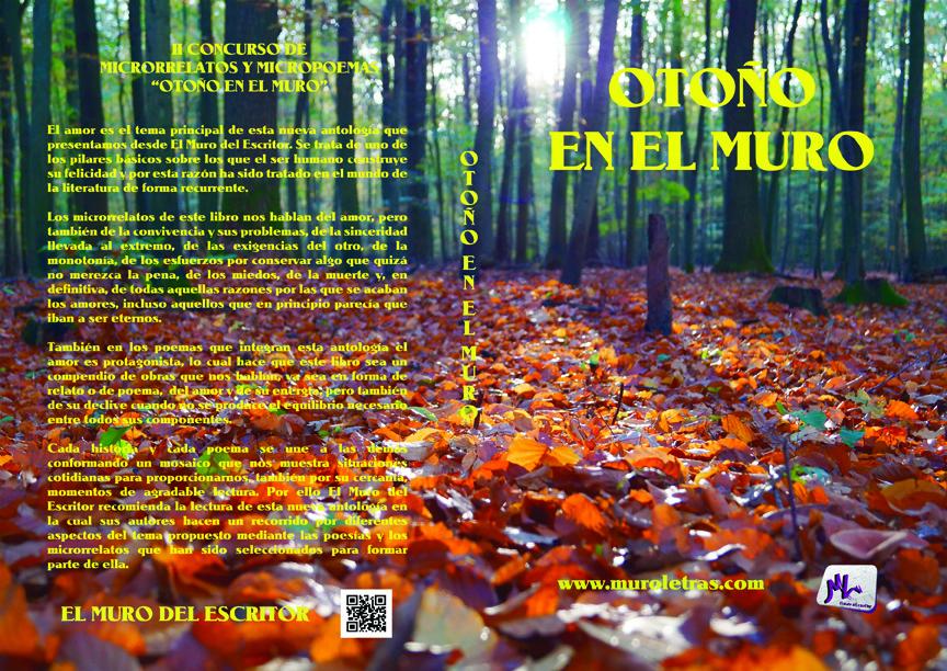 Libro otoño en el muro